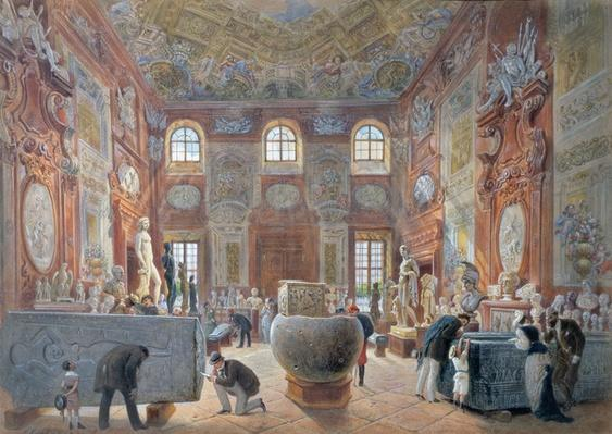 The Marble Room with Egyptian, Greek and Roman Antiquities of the Ambraser Gallery in the Lower Belvedere, 1876