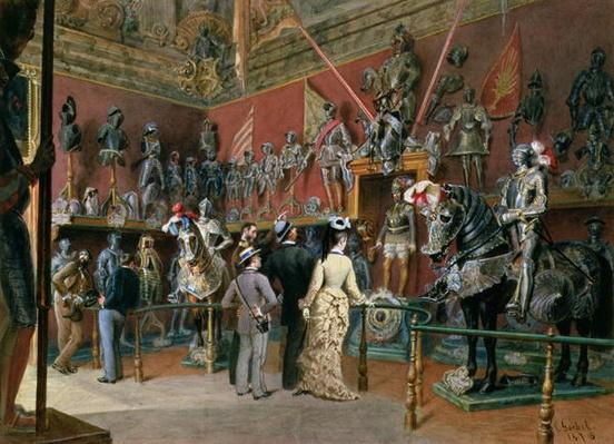 The first Armoury Room of the Ambraser Gallery in the Lower Belvedere, 1875