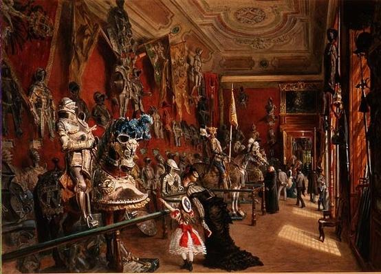 The second Armoury Room in the Ambraser Gallery of the Lower Belvedere, 1875