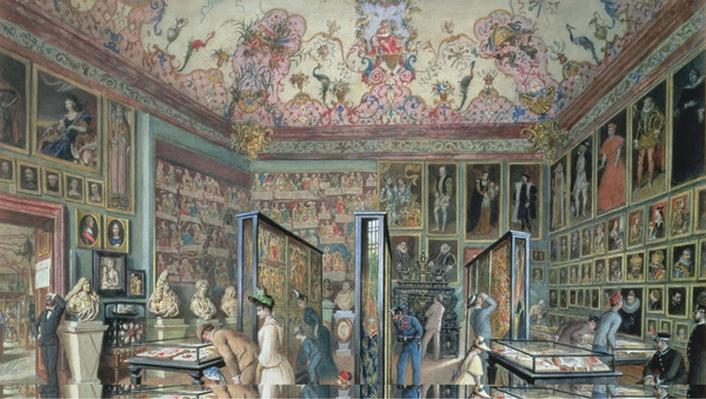 The Genealogy Room of the Ambraser Gallery in the Lower Belvedere, 1888