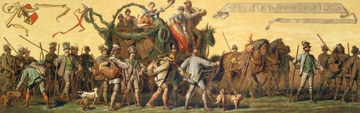Procession of homage in honour of Emperor Franz Joseph I of Austria