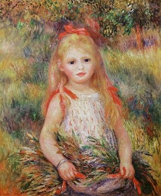 Little Girl Carrying Flowers, or The Little Gleaner, 1888