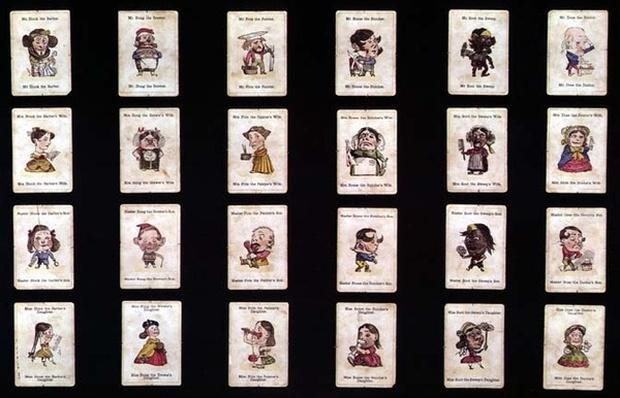 'Happy Families', card game, based on designs by John Tenniel, c.1860