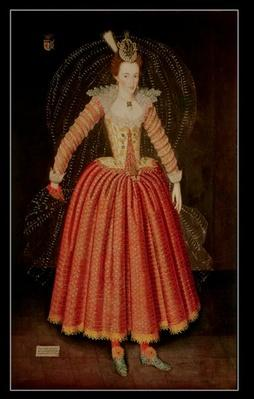 Lucy Harrington, Countess of Bedford, in a masque costume designed by Inigo Jones, 1606