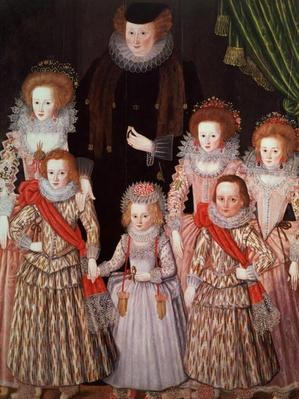 The Tasburgh Group: Lettice Cressy, Lady Tasburgh of Bodney, Norfolk and her Children, c.1605