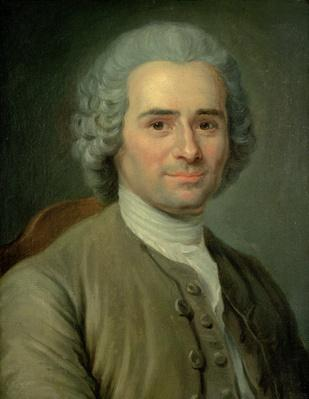 Jean-Jacques Rousseau (1712-78) (oil on canvas) | Famous Philosophers