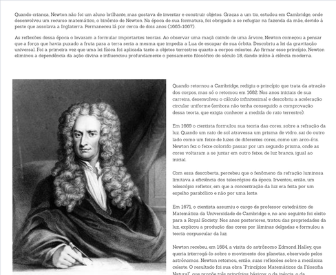 A história de Newton e a Maça