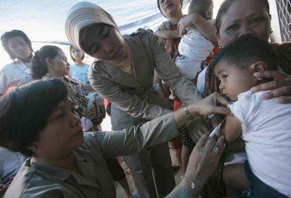 Measles Immunization drive in Jakarta | Global Infectious Diseases