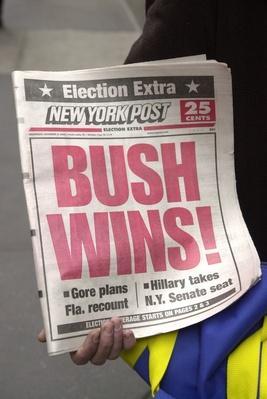New York Post Election Headline Error | U.S. Presidential Elections: 2000