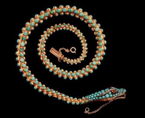 Snake necklace, 1844