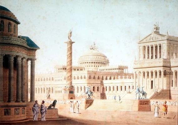 The Capitol, set design for 'Titus', by Wolfgang Amadeus Mozart