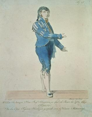 Figaro, valet to Count Almaviva, from 'The Marriage of Figaro' by Wolfgang Amadeus Mozart
