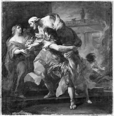 Aeneas carrying Anchises, 1729