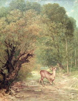 The Hunted Roe-Deer on the alert, Spring, 1867