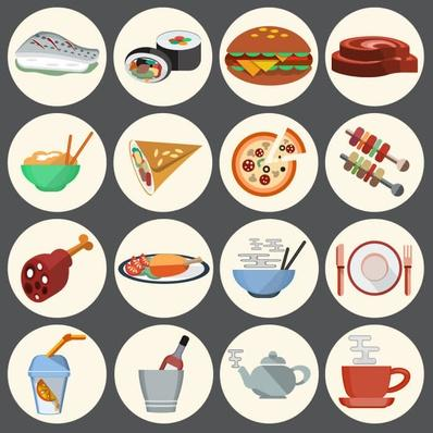 food icons   Health and Nutrition