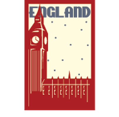 Travel Labels or Badges - England | Clipart