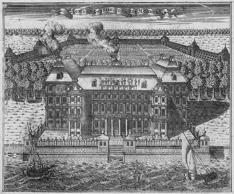 View of Menshikov's Palace on Vasilievsky Island, 1717