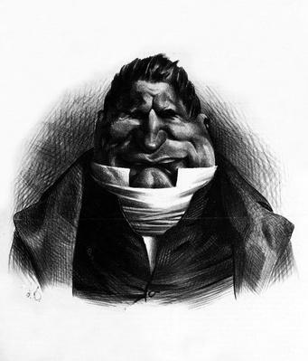 Pot-de-Naz, caricature from 'Le Charivari', May 2, 1833