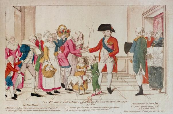Patriotic New Year Gifts offered to the King in 1790