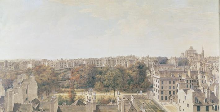 View of Paris from the Belvedere of M. Fornelle, rue des Boulangers, 1787