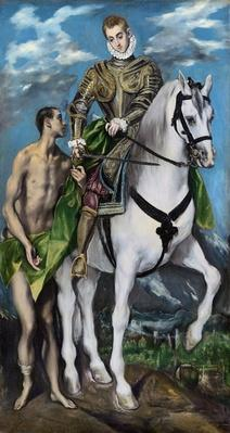 St. Martin and the Beggar, 1597-99