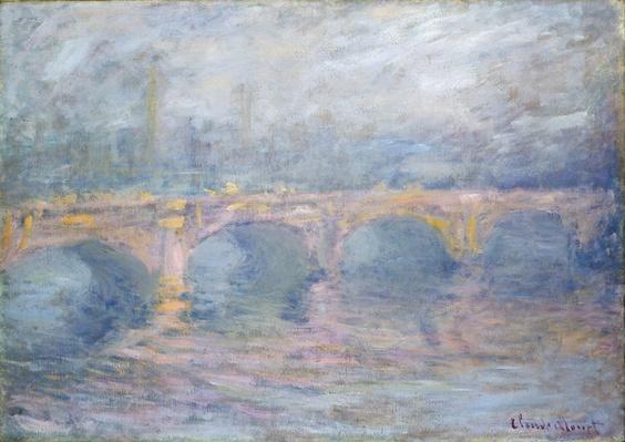 Waterloo Bridge, London, at Sunset, 1904