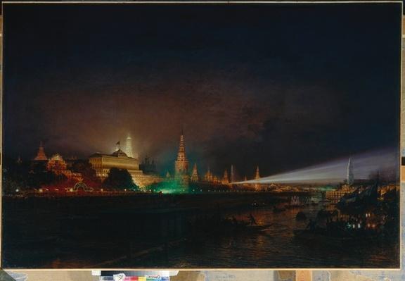 Illumination of the Kremlin, 1883
