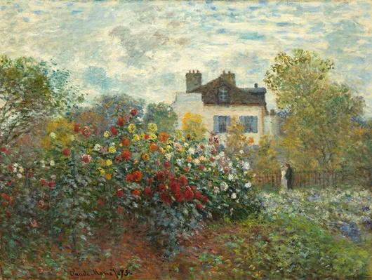 The Artist's Garden in Argenteuil by  Monet, Claude (1840-1926)