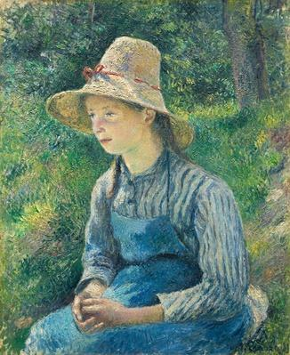 Peasant Girl with a Straw Hat, 1881