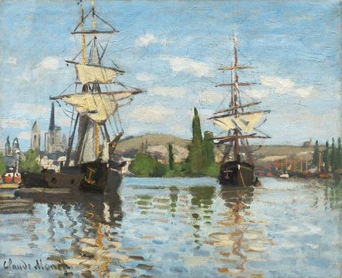 Ships Riding on the Seine at Rouen, 1872- 73