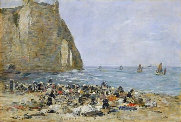 Washerwomen on the beach of Etretat, 1894