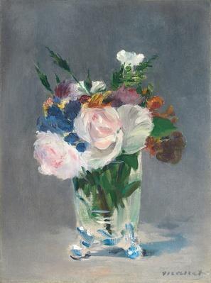 Flowers in a Crystal Vase, c.1882