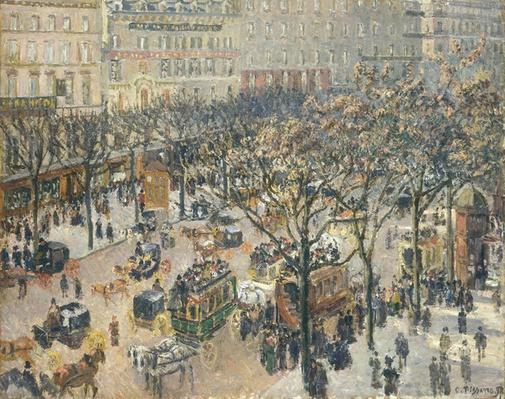 Boulevard des Italiens, Morning, Sunlight, 1897