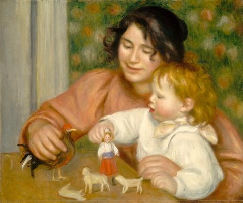 Child with Toys, Gabrielle and the Artist's son, Jean, 1895-96