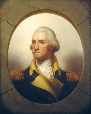George Washington, c.1850 (oil on canvas) by Peale, Rembrandt (1778-1860)