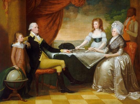 The Washington Family, 1789-1796 (oil on canvas) by Savage, Edward (1761-1817)
