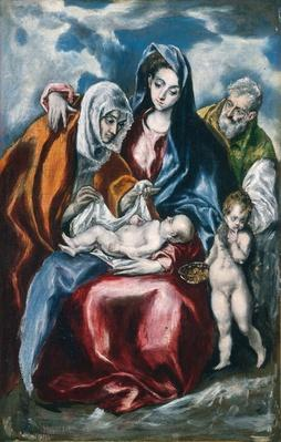 The Holy Family with Saint Anne and the Infant John the Baptist, c.1595-1600
