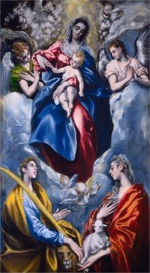 Madonna and Child with Saint Martina and Saint Agnes, 1597-1599