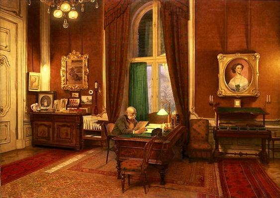 Emperor Franz Joseph I of Austria in his study at Schloss Schonbrunn