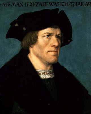 Portrait of a clean-shaven man, 1521