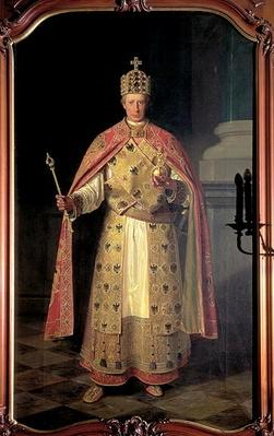 Francis II, Holy Roman Emperor, wearing the Imperial insignia