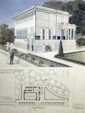 Villa Wagner, Vienna, design showing the exterior of the house