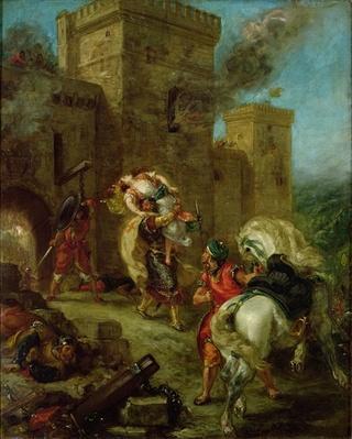Rebecca Kidnapped by the Templar, Sir Brian de Bois-Guilbert, 1858