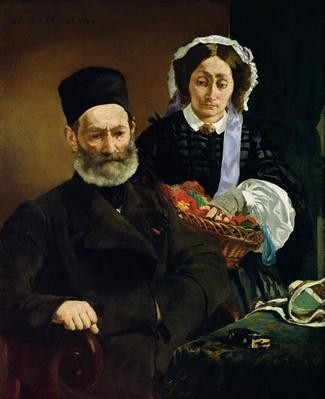 Portrait of Monsieur and Madame Auguste Manet, 1860