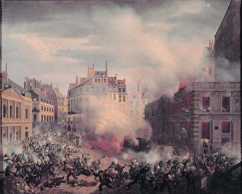 The Burning of the Chateau d'Eau at the Palais-Royal, 24th February 1848
