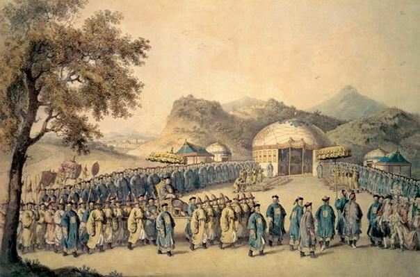 The Approach of the Emperor of China to his tent in Tartary to receive the British Ambassador, George, 1st Earl Macartney
