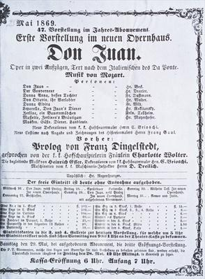 Poster advertising a performance of 'Don Juan'