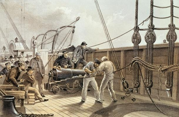 Splicing the Trans-Atlantic telegraph cable