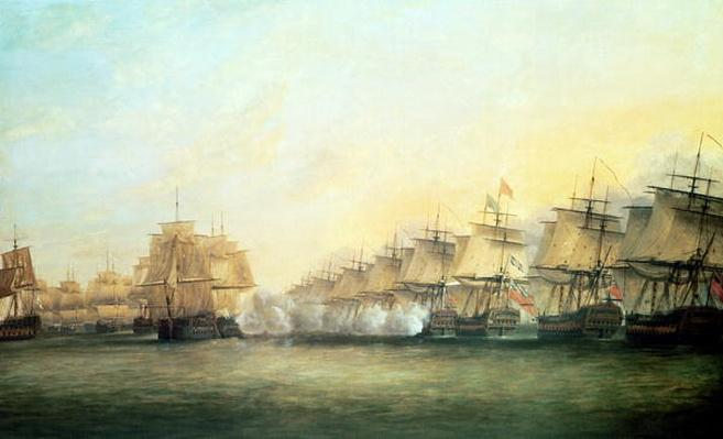 The fourth action off Trincomalee between the English under Admiral Sir Edward Hughes