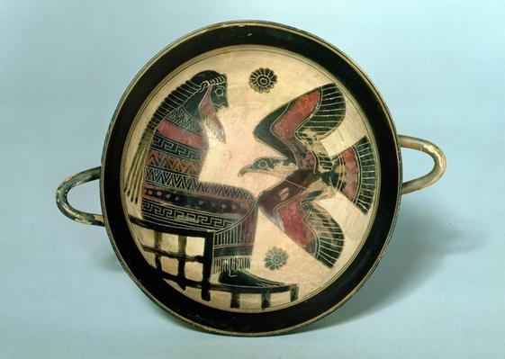Laconian cup depicting Zeus and the eagle, c.550 BC